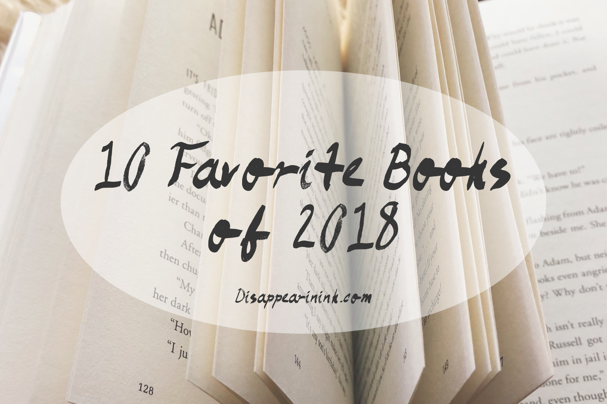 10 Favorite Books of 2018 | Disappearinink.com