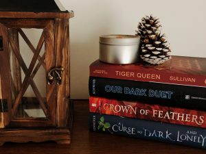 A Curse So Dark And Lonely by Brigid Kemmerer Crown of Feathers by Nicki Pau Preto Our Dark Duet by Victoria Schwab Tiger Queen by Annie Sullivan