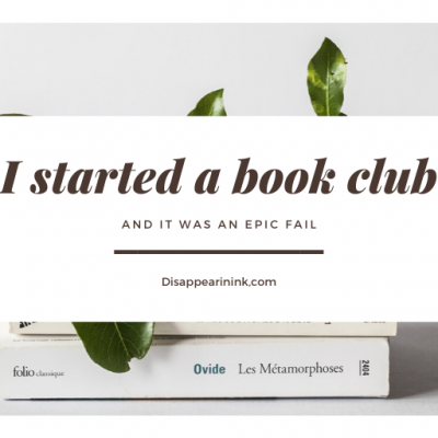 I Started A Book Club…And It Was An Epic Fail