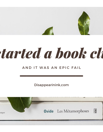 I Started A Book Club...And It Was An Epic Fail | MC Roberts Disappearinink.com
