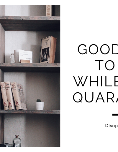 14 Good Books To Read While You're Quarantined | MC Roberts Disappearinink.com